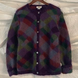 TALBOTS HAND KNITTED BUTTON UP SWEATER